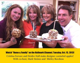 Shirley, Cristina Ferrare and Mark Steines with actress Deidre Hall of Days of Our Lives on the Home and Family Show