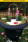 Liquor-bottle-arbor-for-roses-mini-garden-for valentines shirley-bovshow