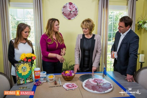 garden designer shirley bovshow makes rose clock with cristina ferrare and mark steins on home and family show