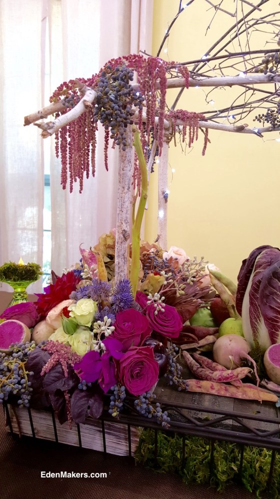 shirley-bovshows-birch-mini-arbor-fushia-roses-pink-beets-red-dahlias-amaranthus-edenmakers-blog