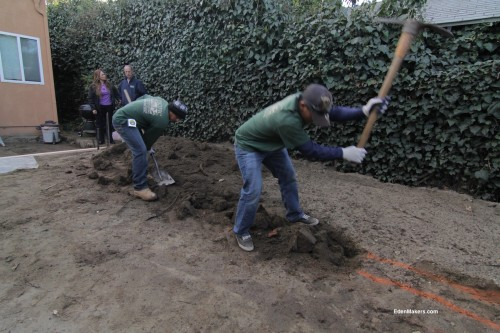 landscapers-dig-trench-for-retaining-wall-shirley-bovshow-landscape-designer-terry-morril-edenmakers-blog