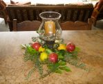 fresh fruit and herb holiday centerpiece by Shirley Bovshow