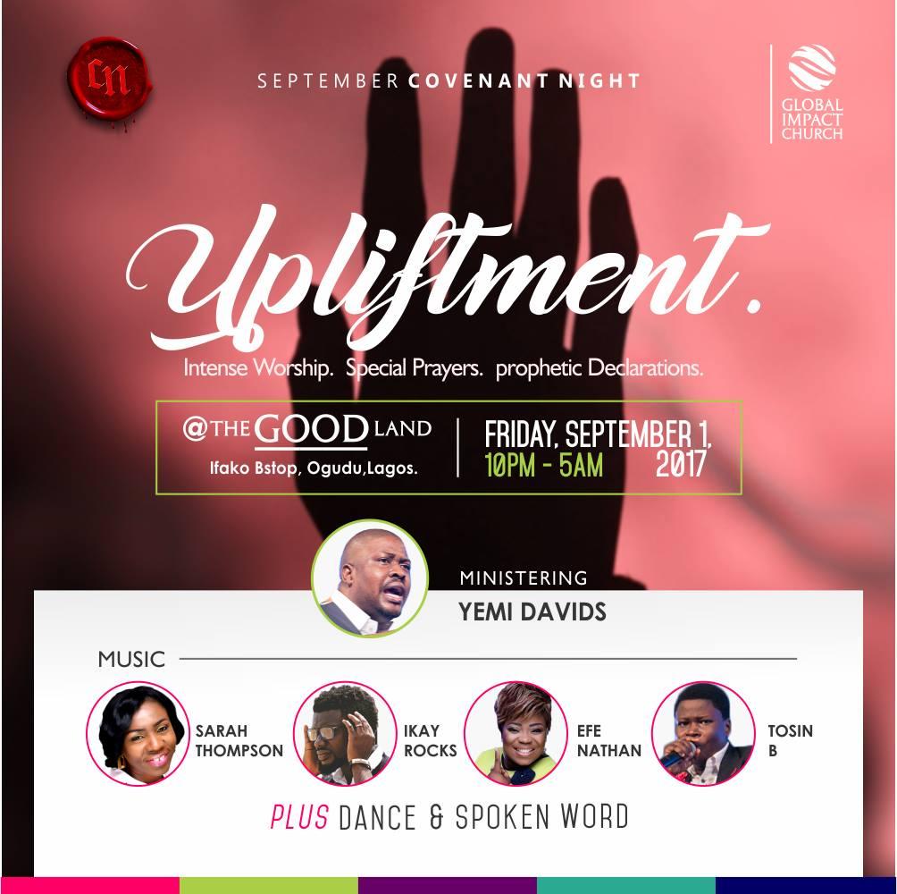 Upliftment - September Covenant Night