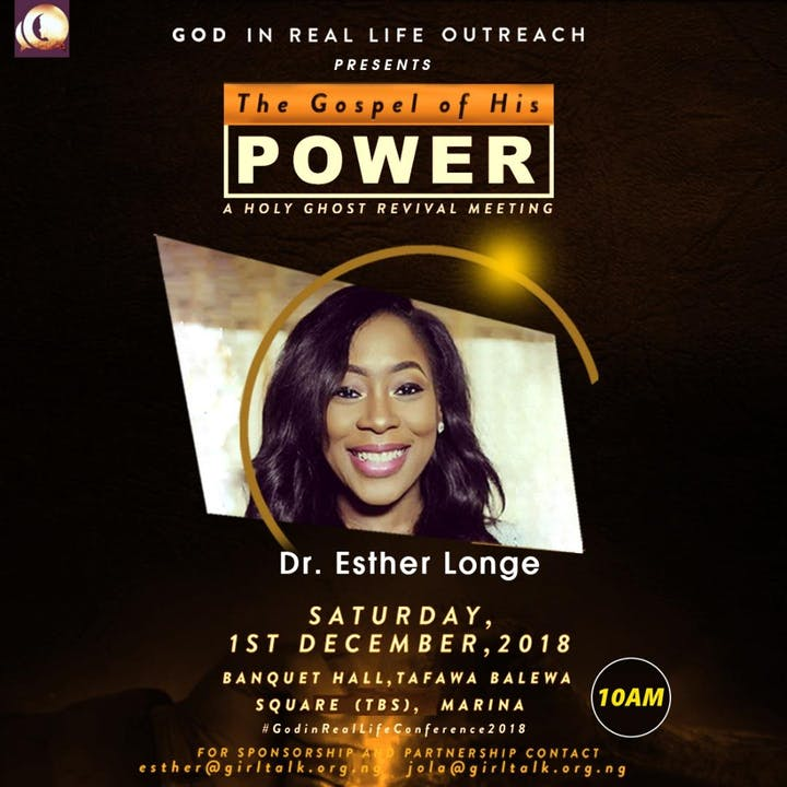 GOD IN REAL LIFE 2018 CONFERENCE