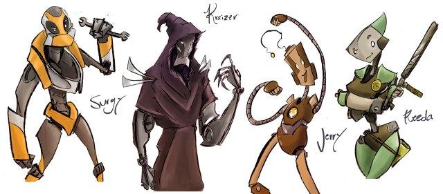 down below characters comic