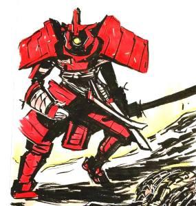 cyclops samurai eden sanders art