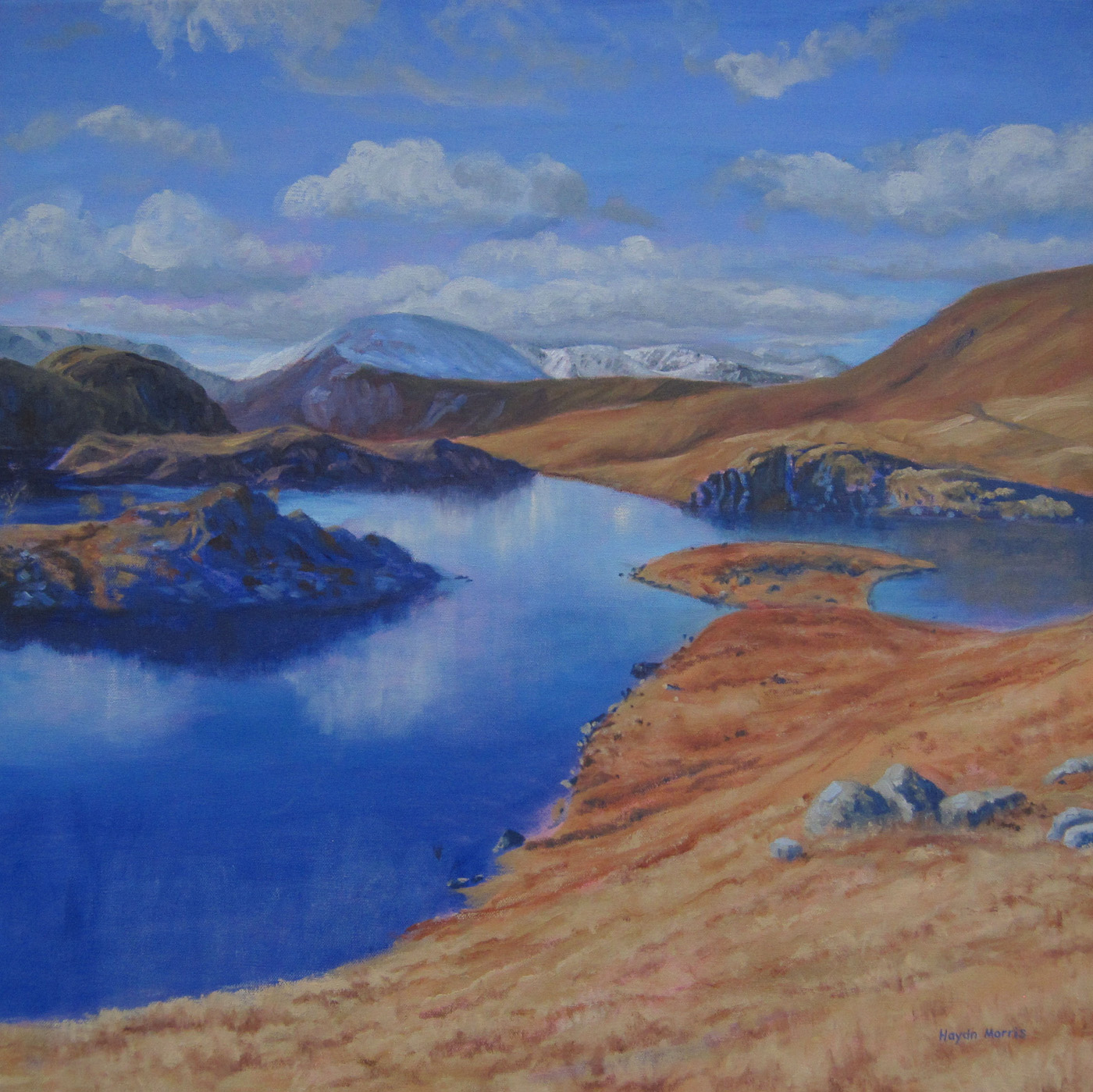 Angle Tarn, Winter, oil on canvas, 60x60cm