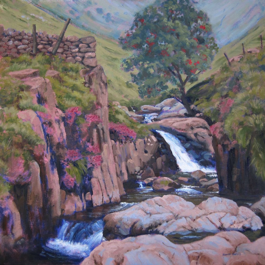 Grains Gill, Borowdale, oil on canvas, 60x60cm