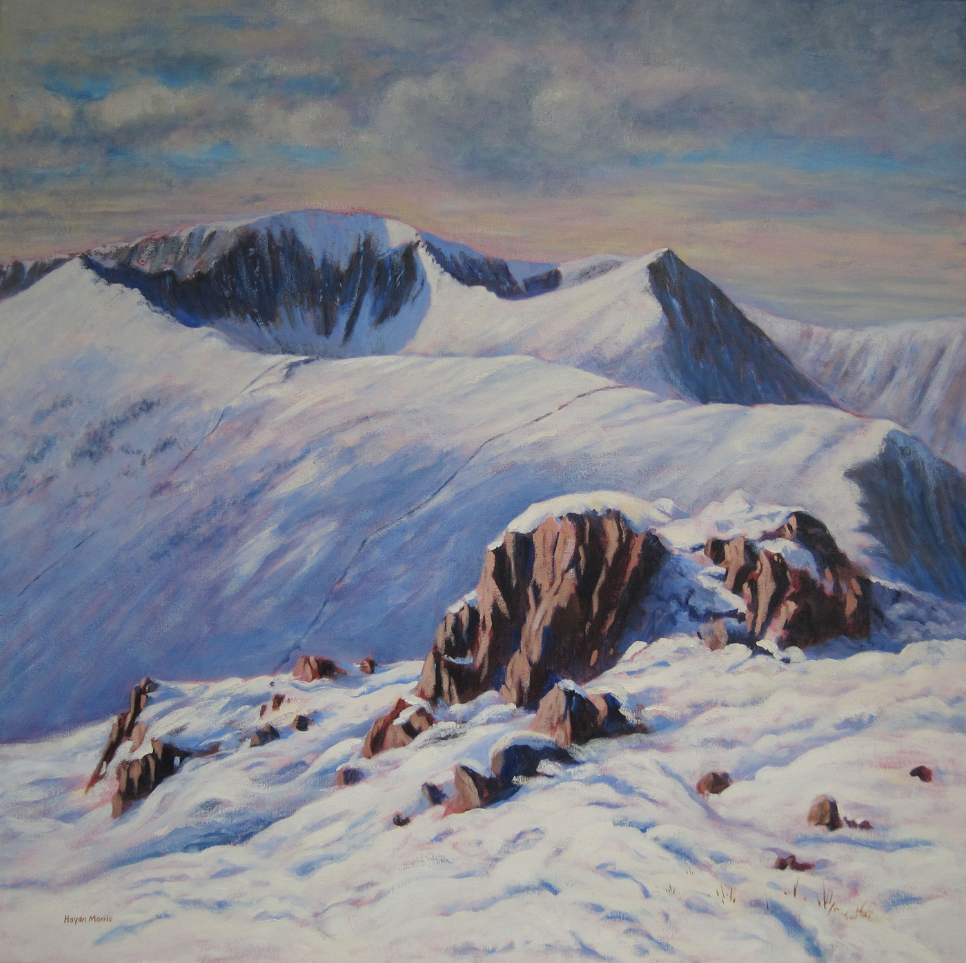 Helvellyn from Place Fell, oil, 80x80cm