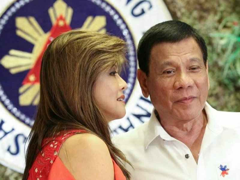 Imee Marcos and Rodrigo Duterte