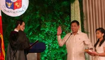 Duterte swearing in