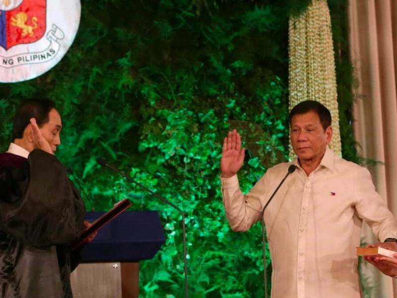 Duterte swearing in