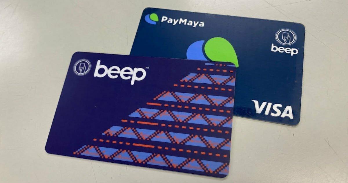 Beep and PayMaya cards