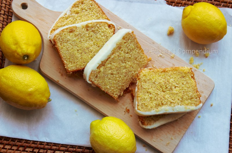 Lemon Cake with Apricot Glaze and Lemon Icing