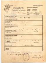 1741 Birth Certificate István Édes