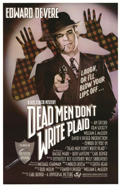Dead Men Don't Write Plaid photoshopped poster - Macbeth Gunpowder Plot 1605