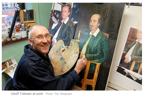 Artist paints Willy with paintless palette, metaphor writes itself - Stratfordian Willy prints sold