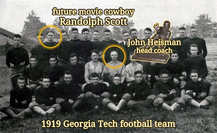 1919 Georgia Tech football team - limerick Randolph Scott Hollywood