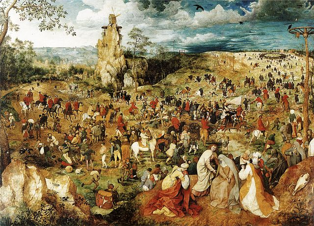 Bruegel Procession to Calvary display image - Flanders Gascoigne Spain Burghley