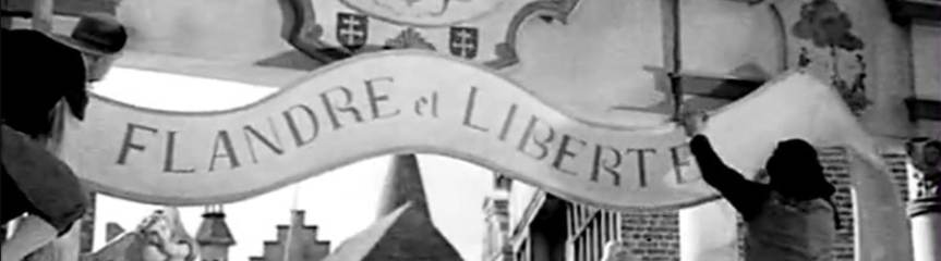 Banner - Flanders and Liberty from the film - Flanders Gascoigne Spain Burghley