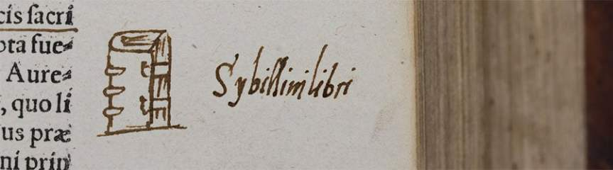 Banner - Sybilline Book marginalia by my teacher Sir Thomas Smith