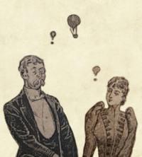 Victorian coded symbolism hot air balloons - Aubrey Brief Lives gossip