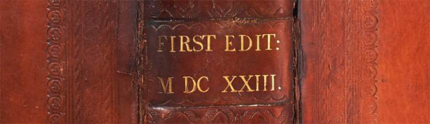 Mills FF spine MDCXXIII - Shakespeare First Folio auction result