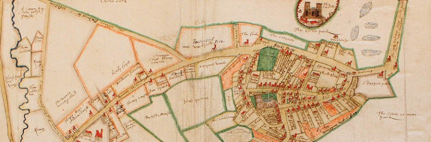 Banner - top of Amyce map showing castle - deVere Hedingham ring auction