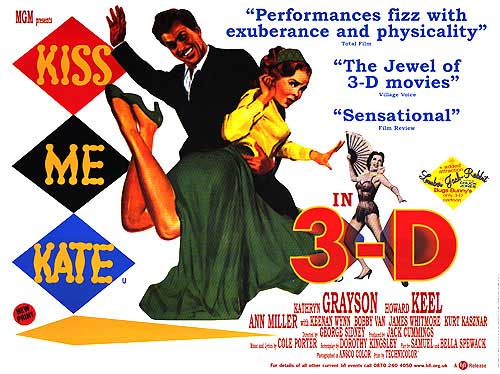 Kiss Me Kate 3D poster - Porter Shrew Oxfordian lyrics