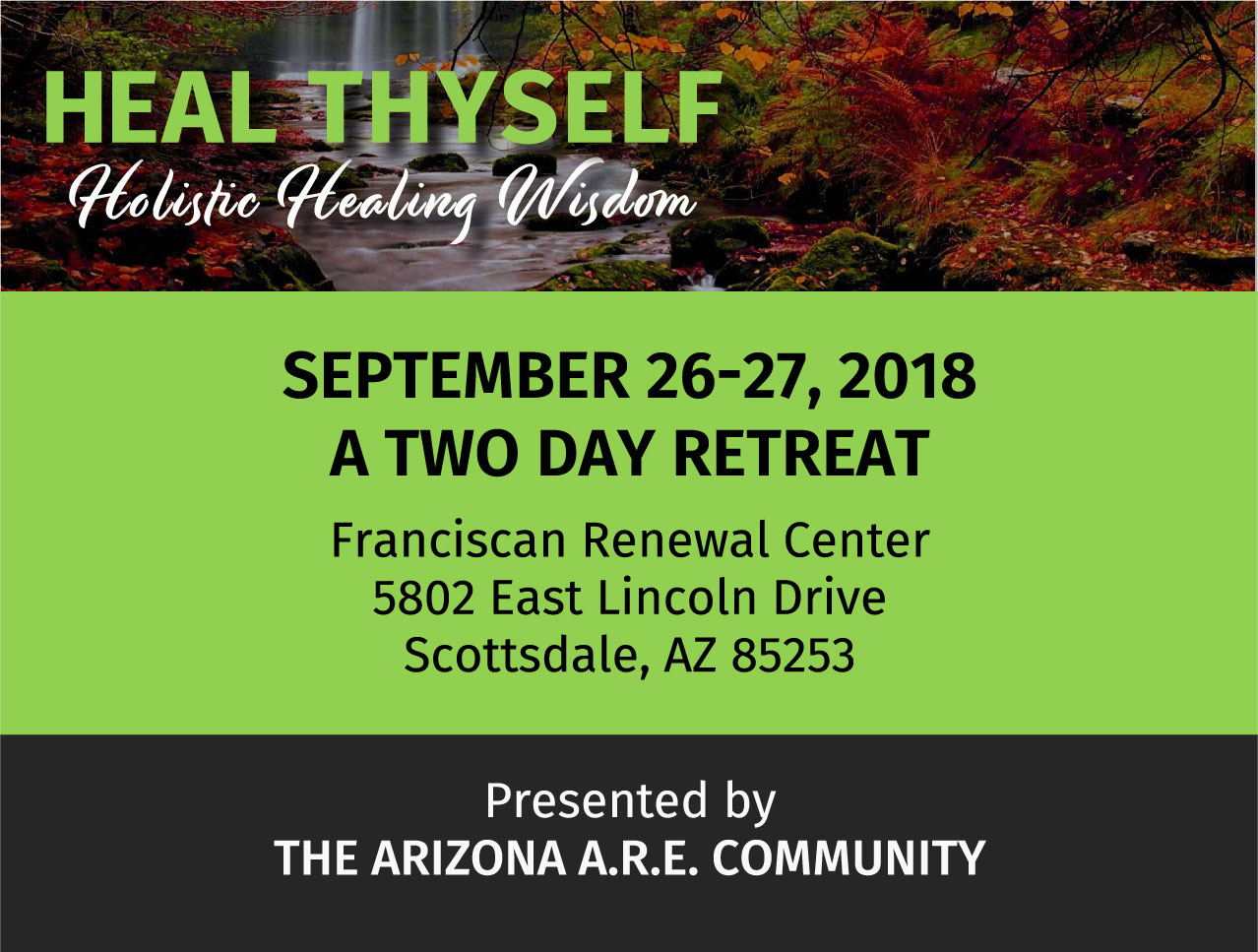 Heal Thyself holistic healing Wisdom 2 day retreat