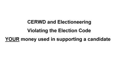 CERWDelectioneering