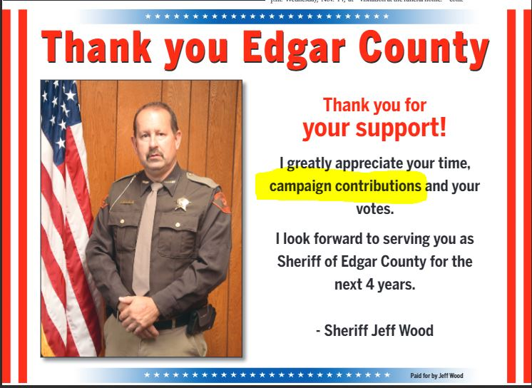 Edgar Co Sheriff Jeff Wood Failed To Properly Report Campaign Donations Illinois Leaks