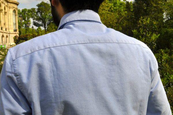 chemise drapeau noir oxford blue classic