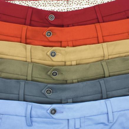 chino homme toutes les couleurs marque le pantalon