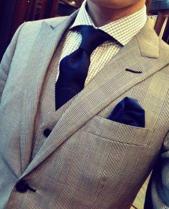 costume prince de galle et cravate