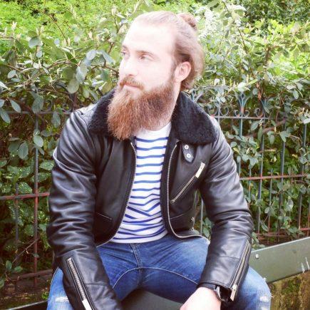 Marinière Armor lux homme avec veste en cuir