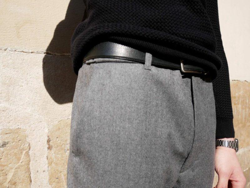 pantalon noyoco oslo zoom sur le détail fourche basse
