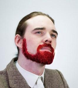 fête des pères kit barbe paillette