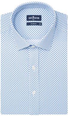 chemise selon son budget café coton chemise à imprimé