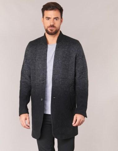 Tenue homme idée de manteau long gris