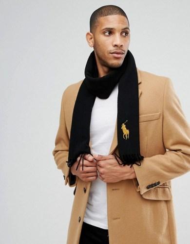 Tenue homme écharpe en laine ralph lauren