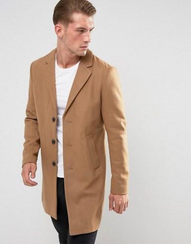 Tenue homme manteau en laine chaud