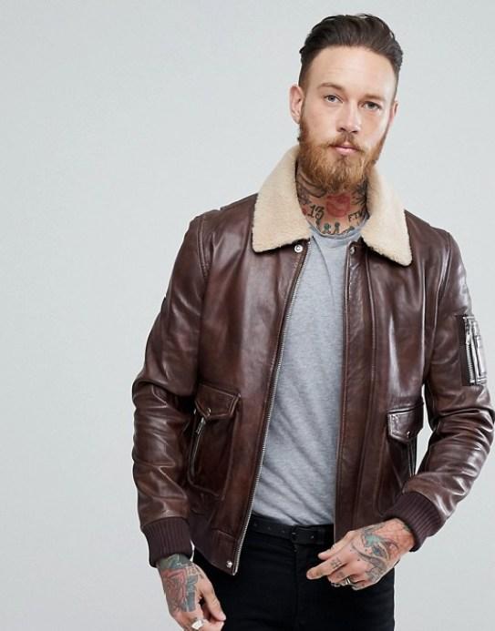Blouson aviateur black dust en cuir tenue homme