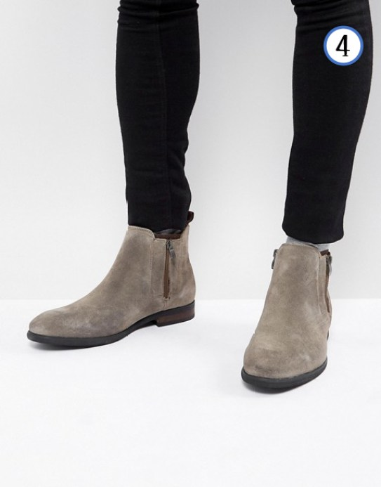 Bottines chelsea en daim tenue homme