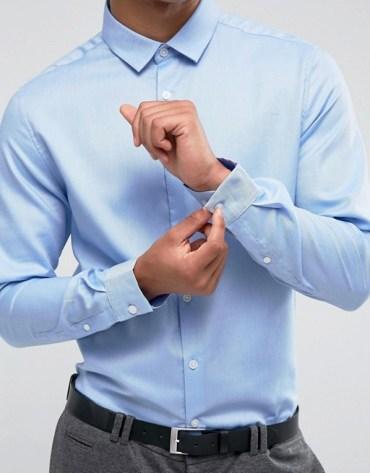 tenue homme chemise bleu asos