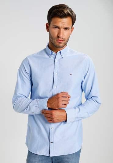 tenue homme chemise bleu oxford