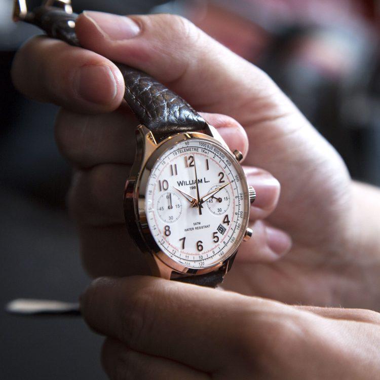 montres william L. 1985 pour homme style chronographe