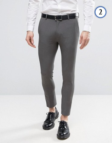 tenue homme pantalon de costume court