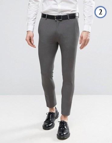 tenue homme pantalon de costume court