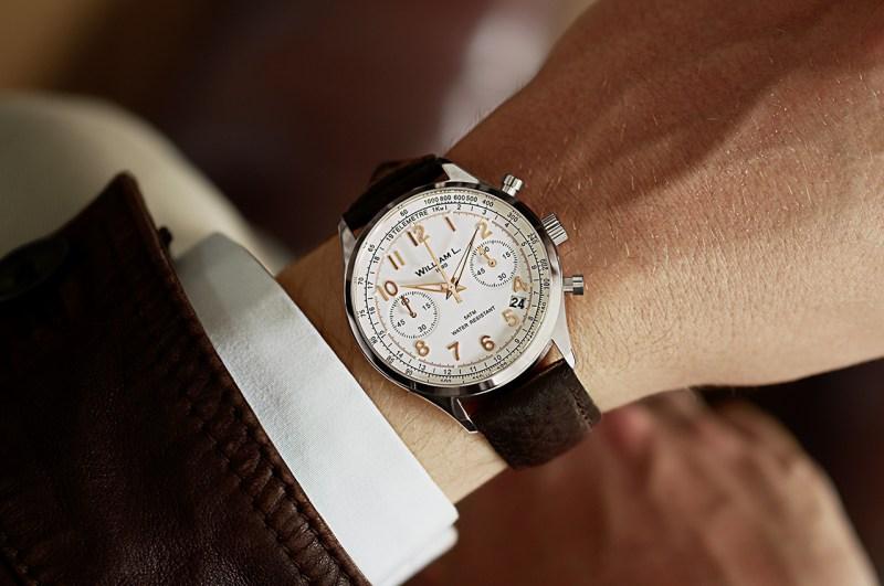 montres william L. 1985 homme chronographe